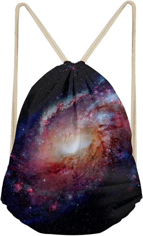 FUIBENG 3d Universe Planet rawstring Bag Sport Travel Shoulder Backpack Kid Back to School Gift