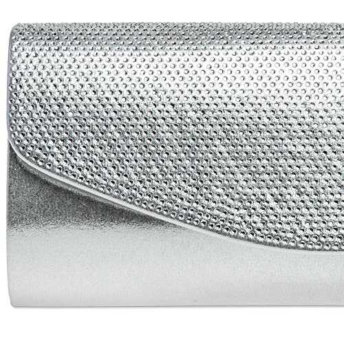 CASPAR Fashion - Cartera de mano para mujer plata