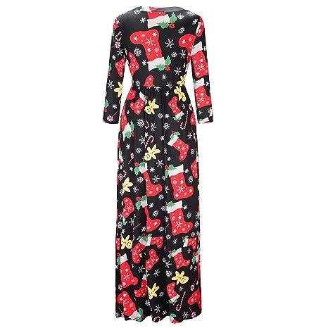 SINARU Christmas Dress, Womens Casual Print Evening Party Prom Dress Maxi Dress at Amazon Womens Clothing store: