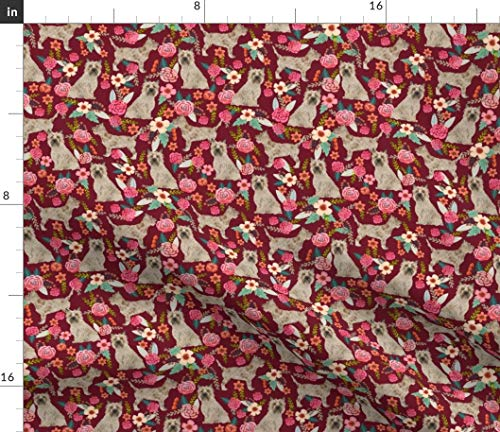 - Spoonflower Terrier Fabric - Cairn Terrier Puppy Dog Cairn Terrier Terrier Dog Dogs Florals Floral Cairn Terrier Dog Pet by Petfriendly Printed on Fleece Fabric by The Yard