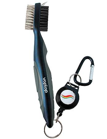Amazon.com: Cepillo para golf y limpiador de palos (hierros ...