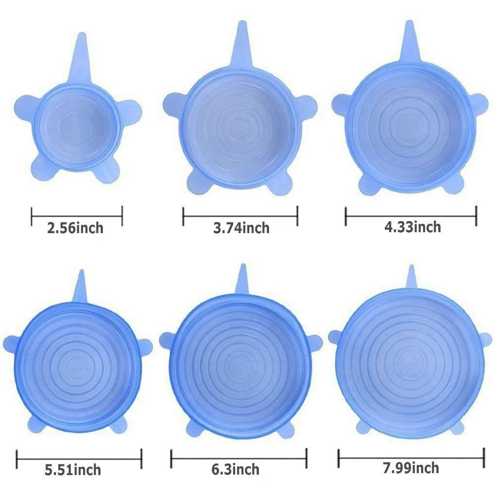 Wohlstand 6 Piezas Tapas de Taza de Silicona Cubierta de Taza de Antipolvo Tapa de Copa de Diamante Tapas de Silicona Reutilizables para Tazas Tapas de La Taza de La Bebida del Silic/ón 6 Colores 11cm