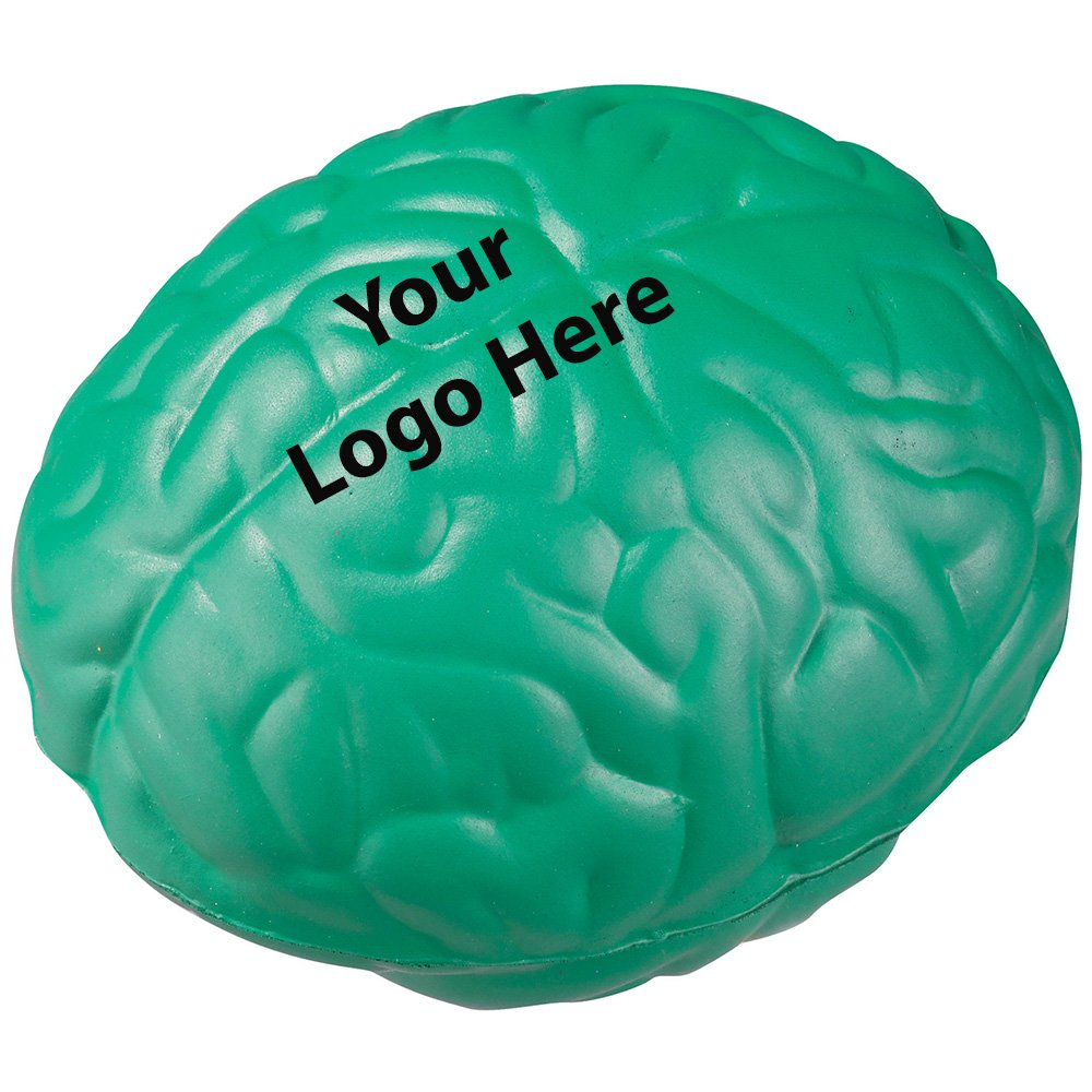 Brain Stress Reliever - 300 Quantity - $1.15 Each - PROMOTIONAL PRODUCT / BULK / BRANDED with YOUR LOGO / CUSTOMIZED