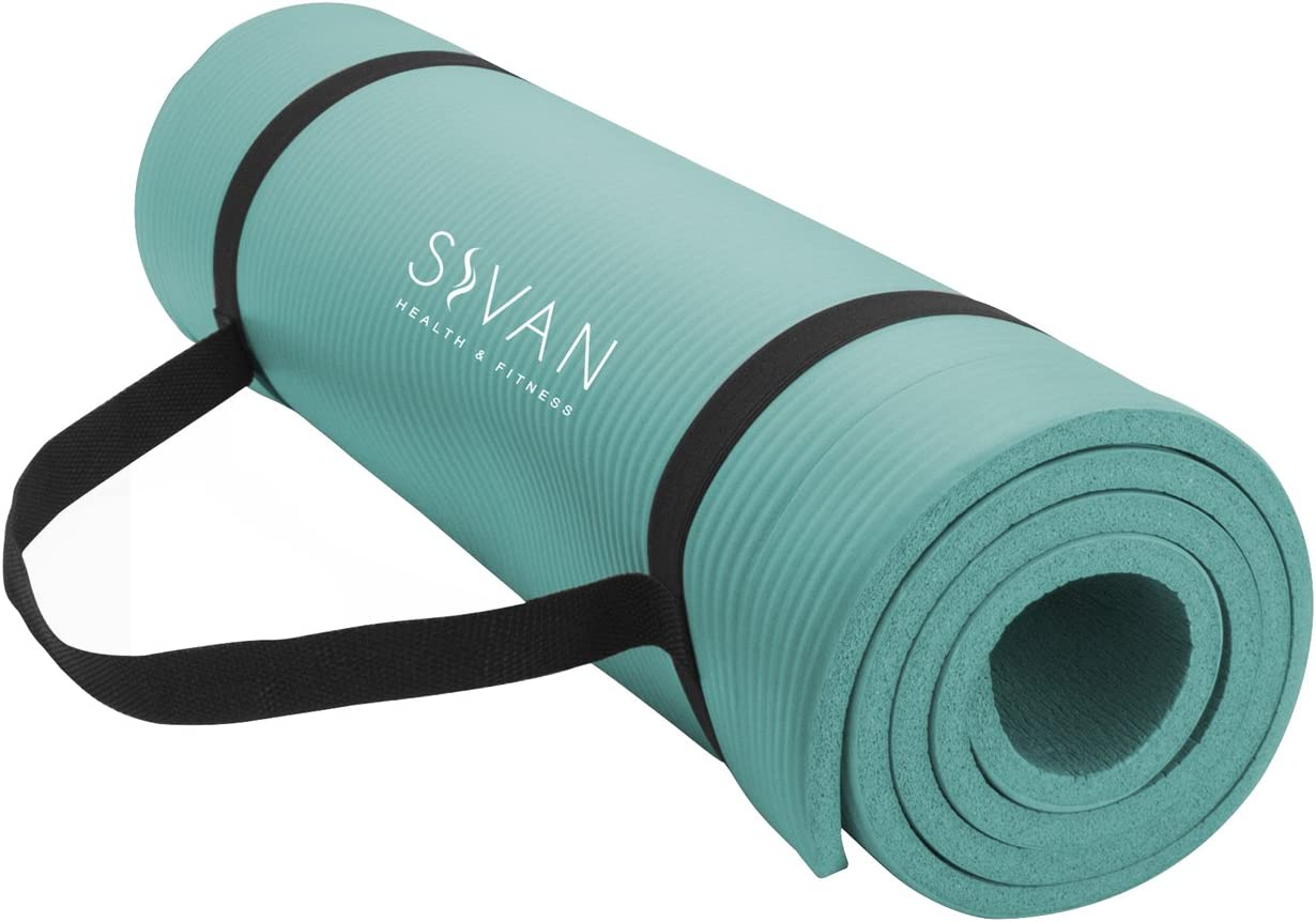 Sivan Health and Fitness 1 2-InchExtra Thick 71-Inch Long NBR Comfort Foam Yoga Mat