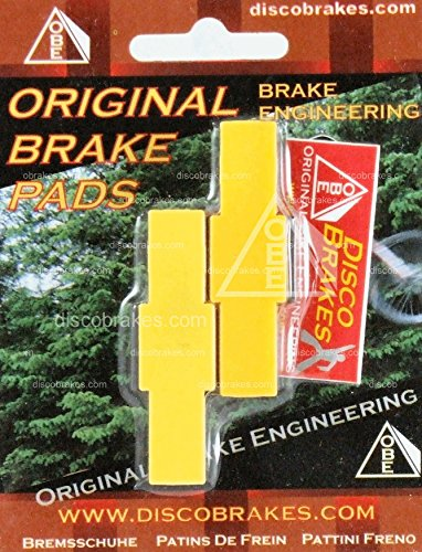 (1 Pair Yellow Trials Pads Suits Magura Hydraulic Rim Brakes HS11 HS33 HS22 HS66)