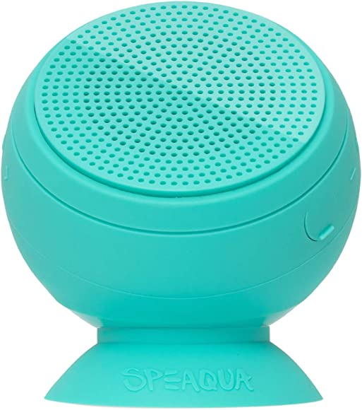 Speaqua – Barnacle Vibe 2.0 Waterproof, Floatable, Bluetooth Speaker – Dual Pairing – Removable Suction – Tahitian Blue
