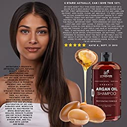 Art Naturals Moroccan Argan-Oil Shampoo for Women, Men and Teens ,16 Oz