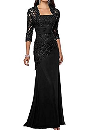 Vickyben Womens mermaid lace Applique Chiffon with Shawl Evening Dress Prom Dress Bridesmaid Dress Ball Gown