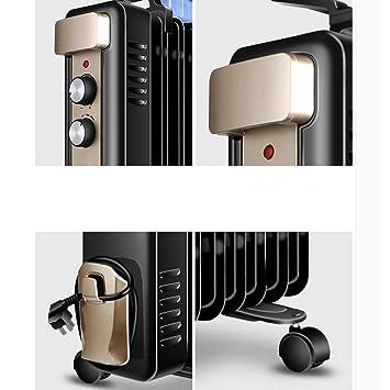 DW&HX Radiador de Aceite, Protección contra el sobrecalentamiento Portátil Radiador Calefactor Electrico Silencioso Calentador de Espacio con termostato ...