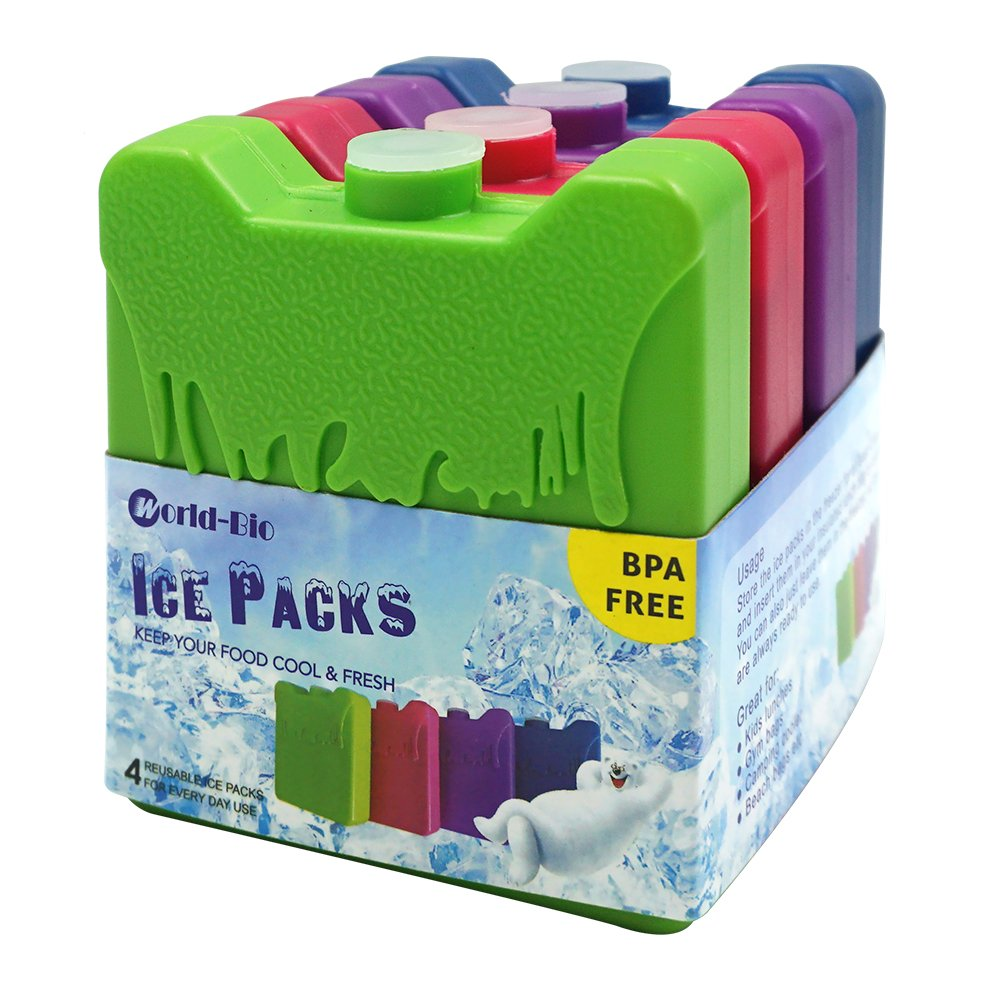 Picnic Great for Kids School Lunch Boxes Ice Pack Freezer Blocks for Lunch Box Cooler Bag Reusable Small But Long Lasting Ice Packs Camping Hiking