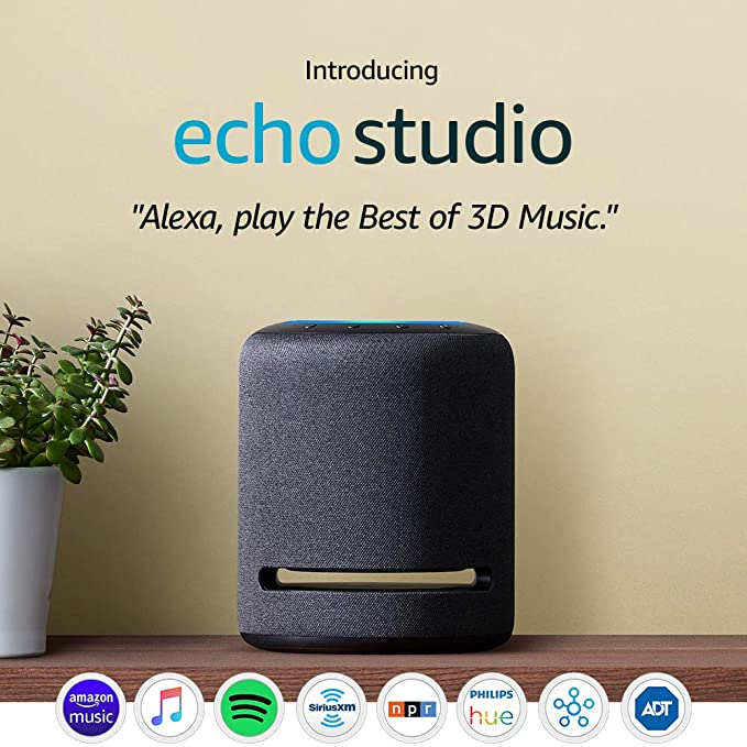 Introducing Echo Studio - High-fidelity smart speaker with 3D audio and Alexa best gifts for grandpas