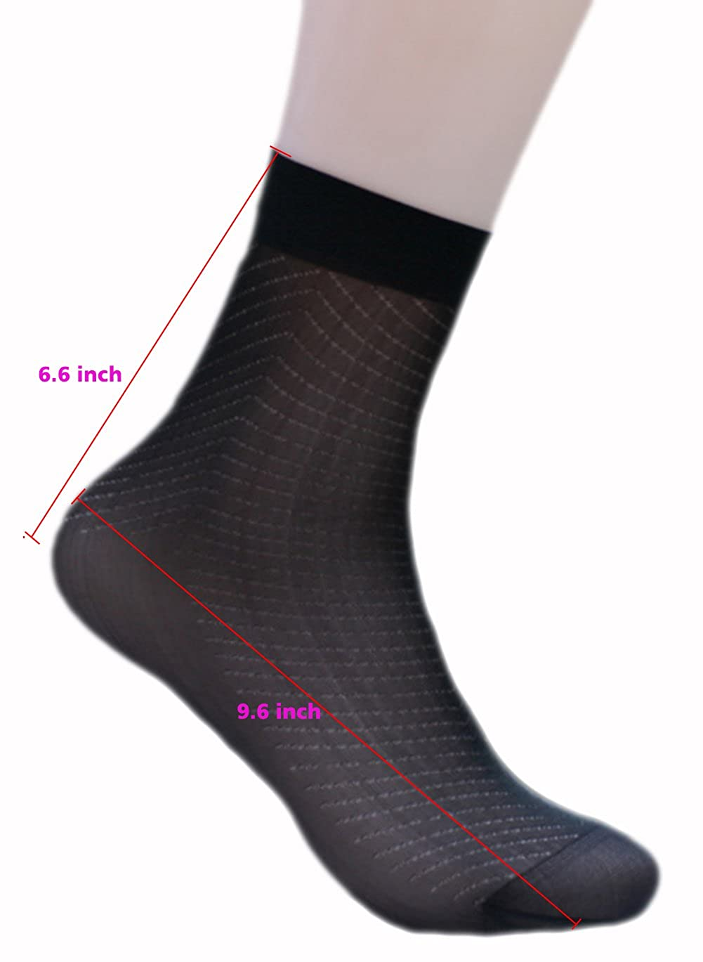 Adult Silk Socks Men Pure Silk Socks Ultrathin Crew Socks Womens Transparent Socks