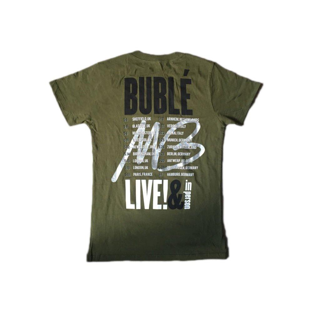 Michael Buble - Live & en persona - Camiseta Oficial Mujer: Amazon.es: Ropa y accesorios