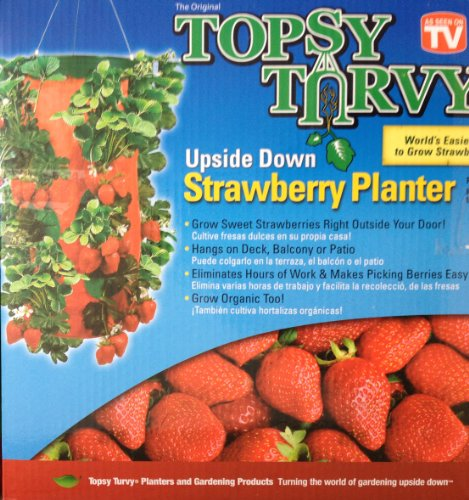 (Felknor Ventures TT041112 Topsy Turvy Strawberry Planter (Pack of 3))