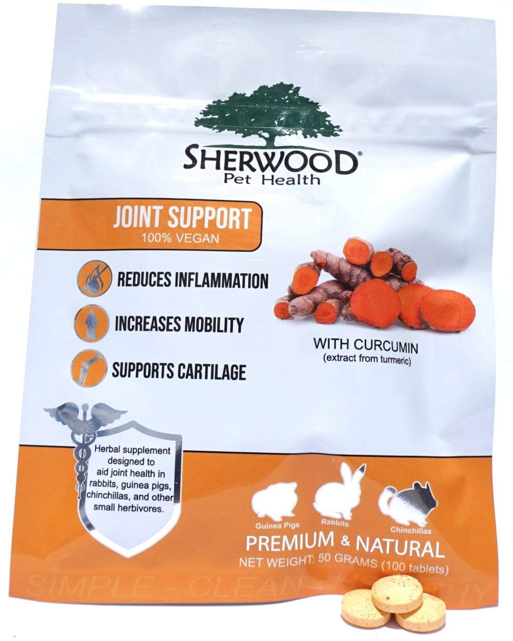 Sherwood Pet Health Vegan Joint Support (100 Tablets - 50 Grams) by Sherwood Pet Health