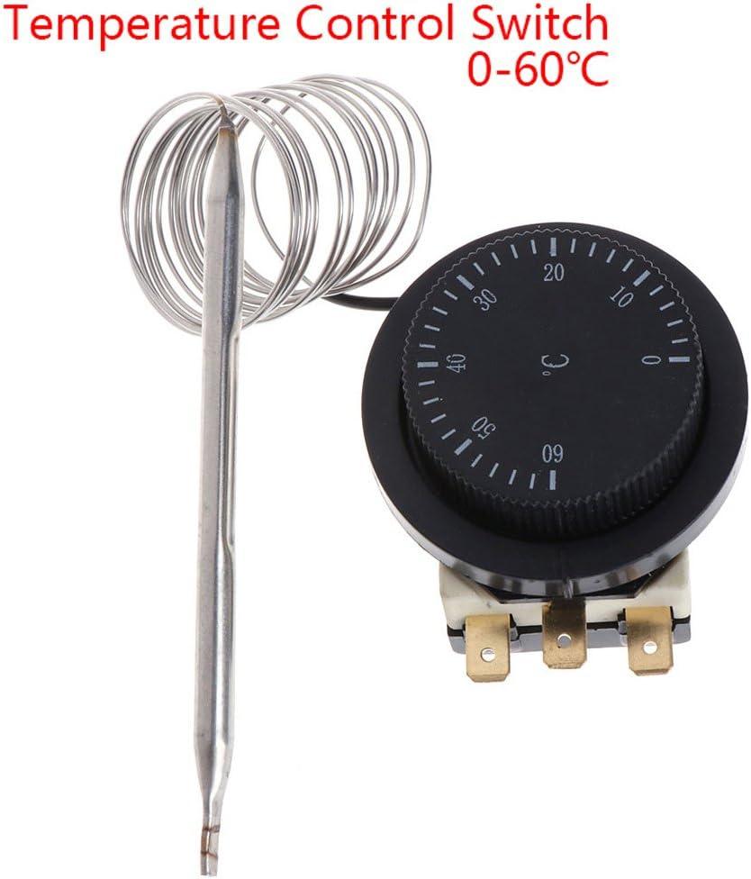 250 V//380 V, 16 A, 0 /– 60 /°C, con Cable Angelliu Termostato de Gas