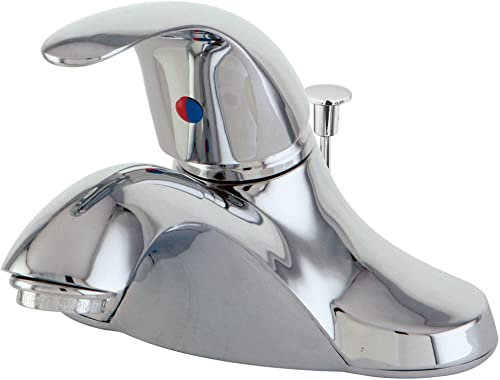 Elements of Design Legacy EB6541 Single Handle Centerset Lavatory Faucet with Retail Pop-Up, 4-Inch, Polished Chrome