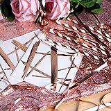 100 Rose Gold Copper Foil Cocktail