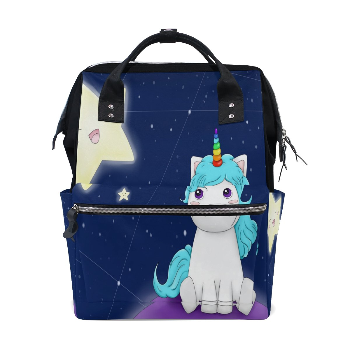 FENNEN Unicorn Horse Travel School Backpack Casual College Lightweight Laptop Backpack Large Capacity Shoulder Diaper Bag for Women Men