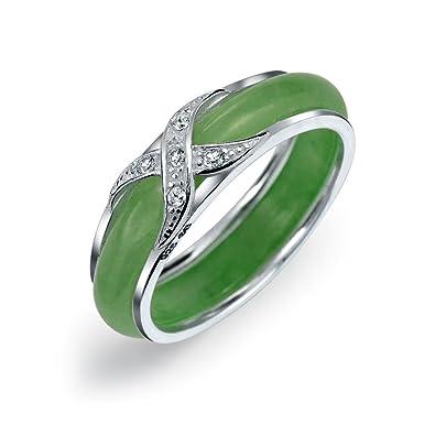 Amazon Com Pave Cz Criss Cross Cubic Zirconia X Kiss Dyed Green