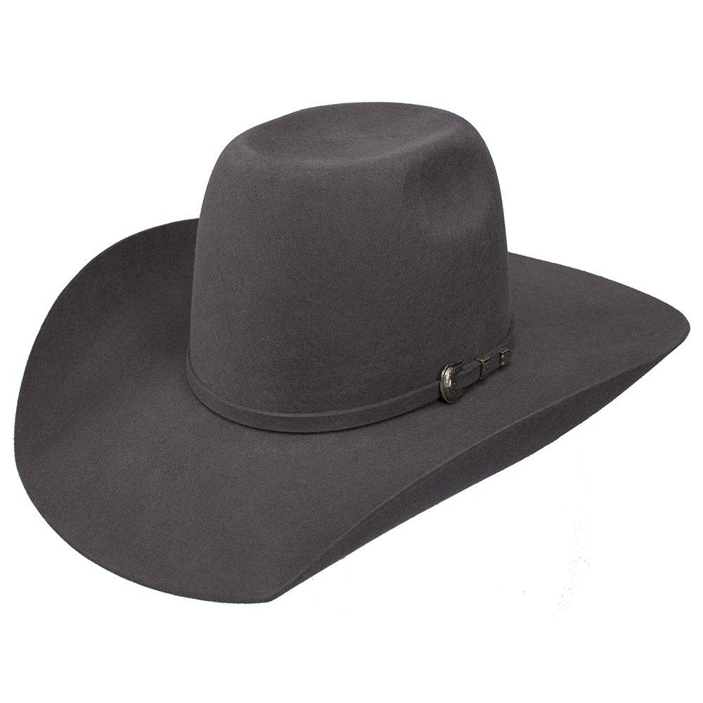 Resistol Boys Kid s 2X Pay Window 4 Brim Pre Creased Cowboy Hat OS Grey by Resistol (Image #1)