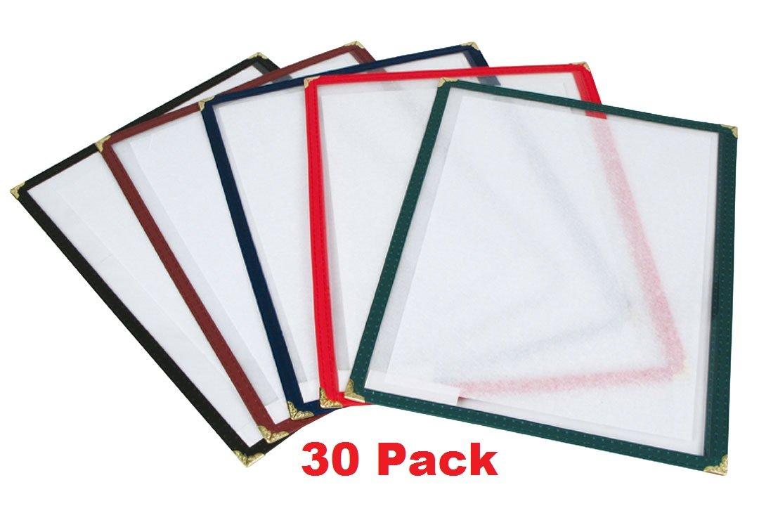 (30 Pack) Single Menu Cover (2 View), 8.5'' x 11'' (Black)