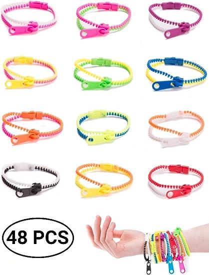 Amazon.com: UpBrands - Juego de 48 pulseras con cremallera ...