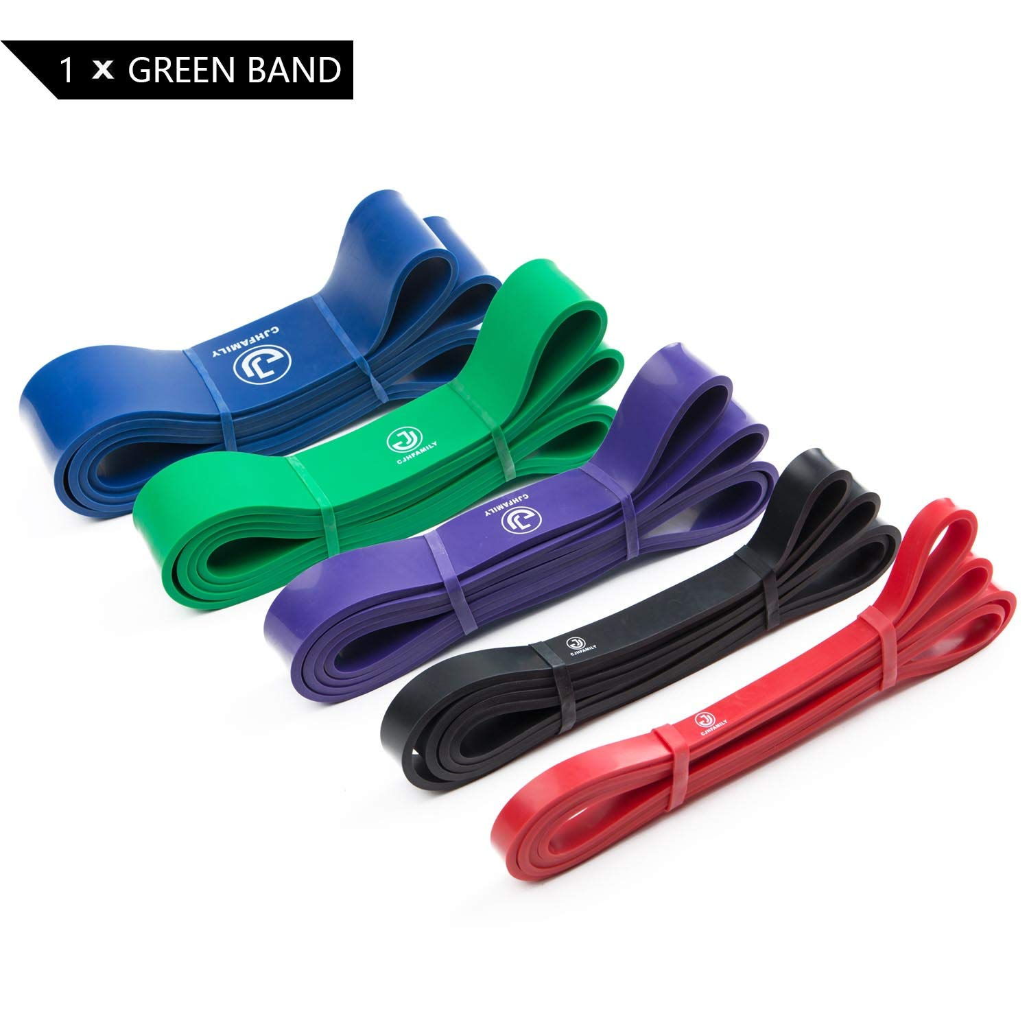 CJHFAMILY Pull up Assist Band Exercise Resistance Bands for Workout Body Stretch Powerlifting -Single Band or Set of 4