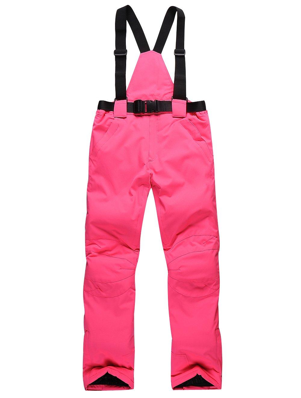 HOTIAN Women's High Windproof Waterproof Bright Color Ski Snowboarding Pants