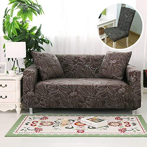 - BAIF Elastic Slipcovers Polyester Covers Furniture Protector for Sofa Cover and Removable Chair Cover in Package(145-185cm),DN,1D and 2XChair Cover