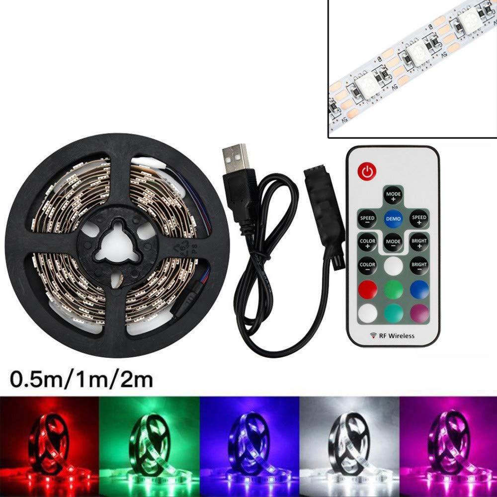 Xmiral Lampe int/érieur 50-200cm usb 5050rgb lumi/ère t/él/é feu dirig/é de couleur variable t/él/écommande 200CM