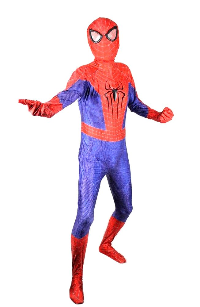 - 61FPdSZZi5L - OEM Spider Man Costume Screen Accurate Dye Sublimation Spiderman Faceshell Lens