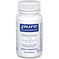 Pure Encapsulations - Melatonin 20 mg - Hypoallergenic Supplement Promotes Healthy...