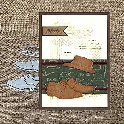 RIsxffp Troqueles de Corte Forma de Zapatos de Deporte Sombrero Troqueles de Corte de Bricolaje Tarjetas de Papel Scrapbooking Craft Plantilla Silver