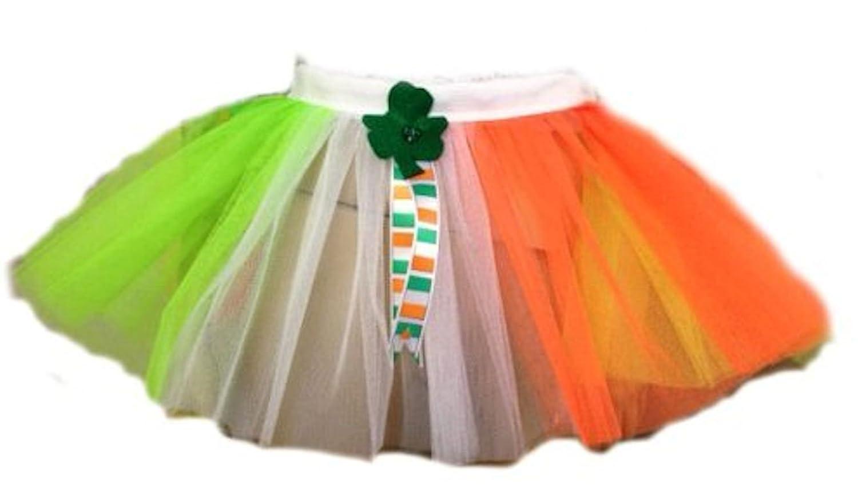 ladies shamrock tutu irish flag green white gold st patrick u0027s day