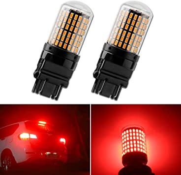 JDM ASTAR 2x 7443 7440 Super Red PX 21-SMD High Power LED Brake Tail Lights Bulb