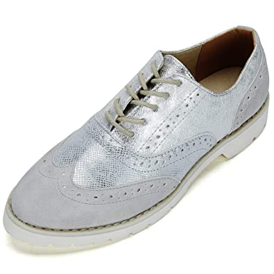 efa3f66d8f6d Ladies Lace-up Oxford Brogue Shoes - Womens PU Patent Leather Shoes ...