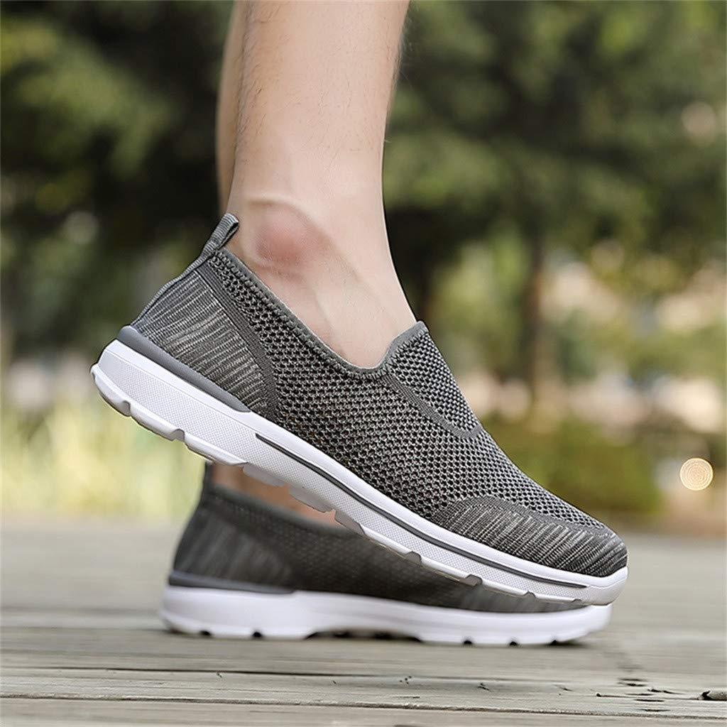 Herren Schuhe Sommer Sneaker Business Slipper Weiss Wei/ß Summer Hollow Mesh Leichter atmungsaktiver Slip On Casual