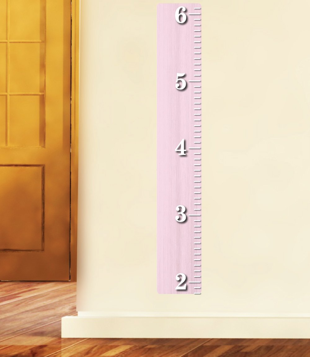 Amazon pink wooden ruler growth chart wood ruler height chart amazon pink wooden ruler growth chart wood ruler height chart wall decal wall sticker baby geenschuldenfo Images