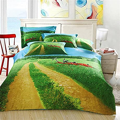 ZQ 3D Fashion Comfortable Floral Print Bedding Four Piece Picture 1 245270CM