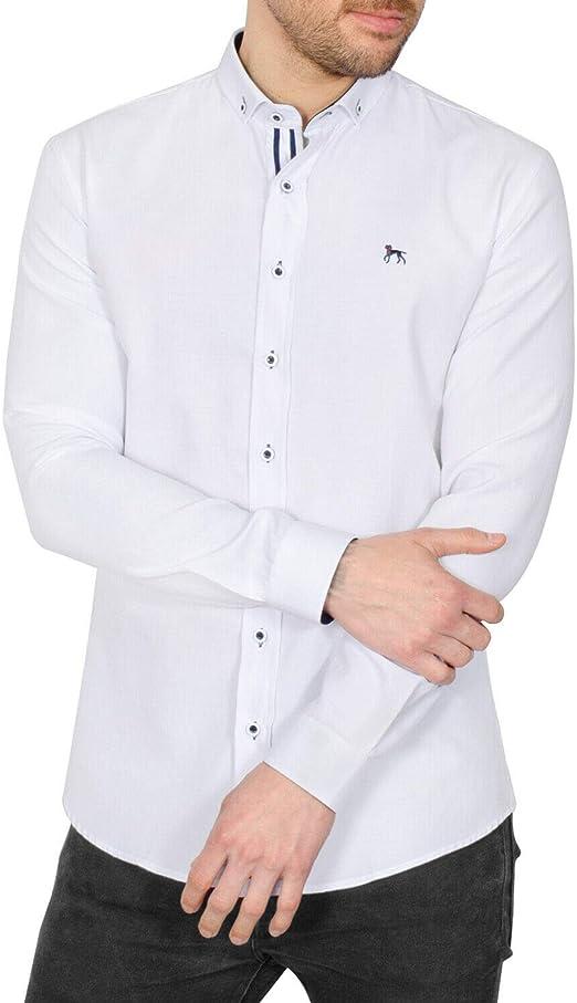 Bewley & Ritch - Camisa Casual - Cuello Italiano - Manga ...