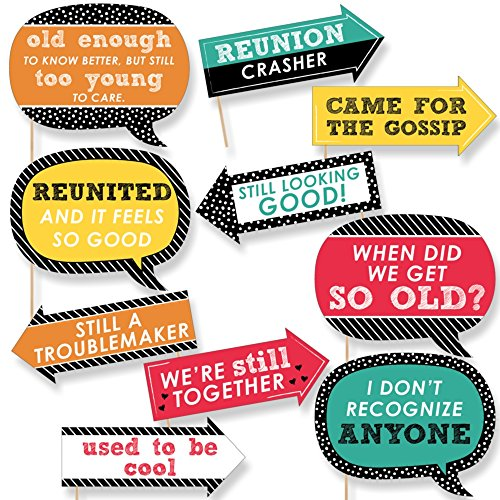 Funny Class Reunion - Photo Booth Props Kit - 10 Piece]()