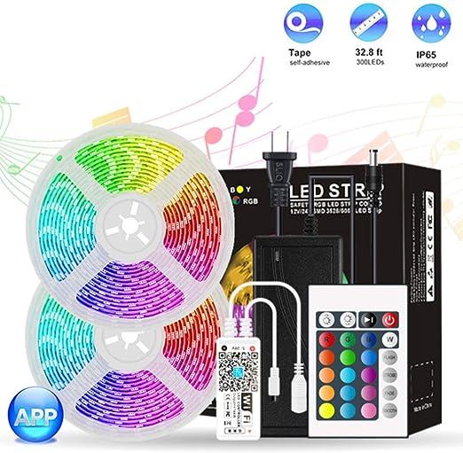 Lily Tira de luz LED Colorida a Prueba de Agua de epoxi WiFi, Tira de luz