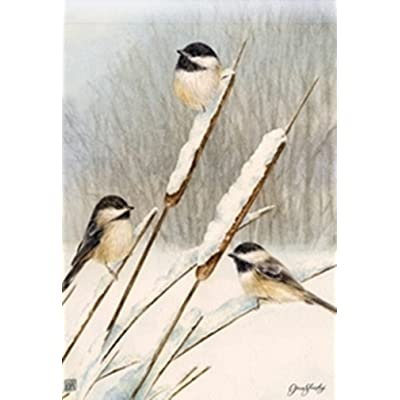 BreezeArt Cattail Chickadees Garden Flag Garden Flag 31454: Home & Kitchen