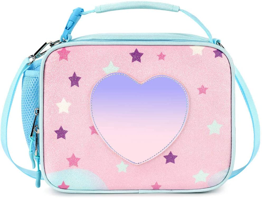 Mibasies Kids Insulated Lunch Box for Girls Rainbow Bag