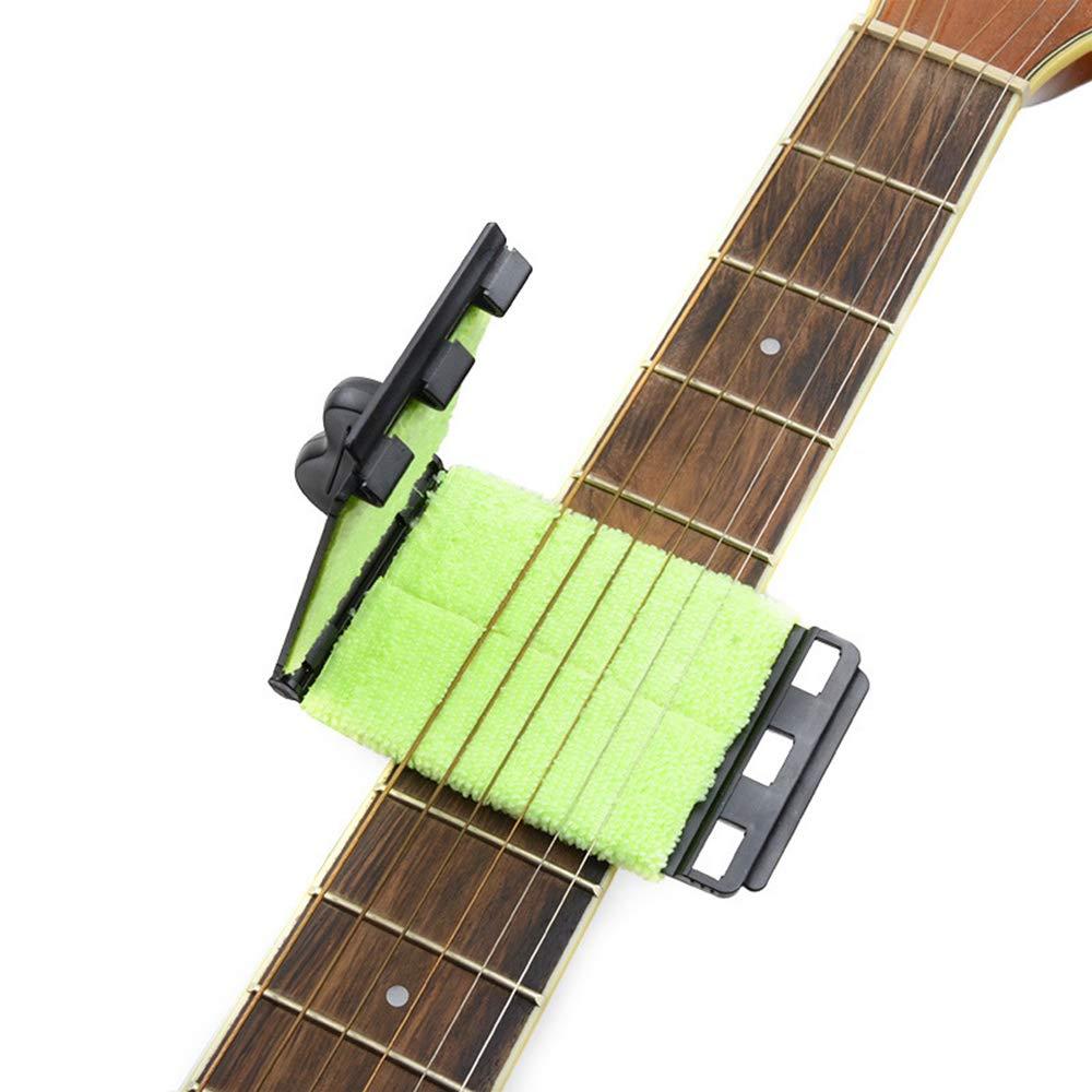 Aofocy Limpiador de cuerdas de guitarra Limpiador de diapasones portátil Limpiador de cuerdas rápido Cuidado de mantenimiento Herramienta de limpieza ...