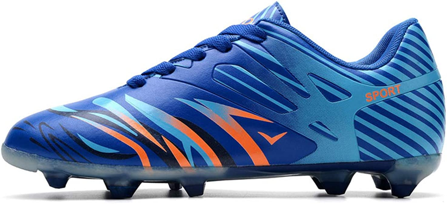 HeLenRed New Football Shoes Spike Training Boots Sneakers Unisex Children and Adolescents