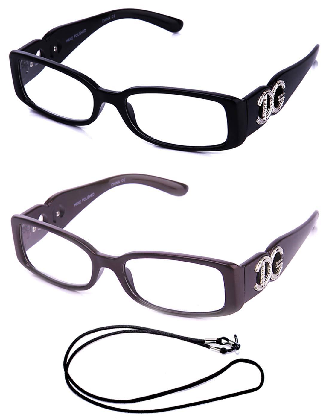 837da8775f11 Amazon.com  Newbee Fashion - Stylish Womens Fashion Reading Glasses Trendy  Small Frame Large IG Logo (2 Pairs with FREE Lanyard)  Health   Personal  Care