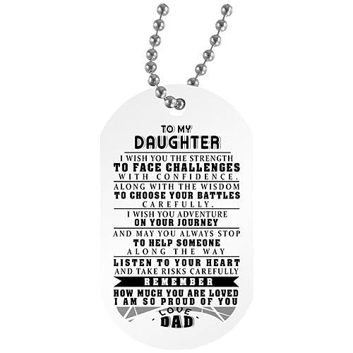 Amazon.com: eConvenience Store Daughter Dad Necklace Quotes ...