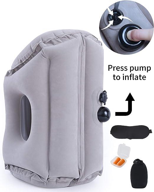 Amazon.com: Almohada de viaje hinchable con diseño más ...